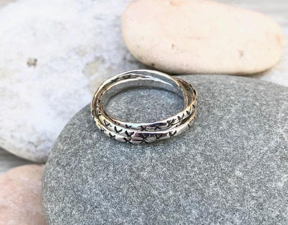 Girls 925 Sterling Silver Multi-Twist Ring Ladies Sizes K - R 1//2