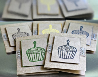 Cupcake Notelets/ Note Cards/ Gift Cards with envelopes - Naturals