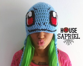 FREE SHIPPING!!squirtle,crochet,Hat pokemon squirtler,Hat squirtle,hat cute squirtle,kawaii squirtle,