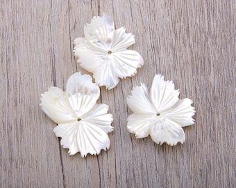 5 petal flower etsy 28x32mm 5 pcs mother of peal 5 petal flower shell white butterfly shell flower carved shell round white shell flower shell craft mightylinksfo