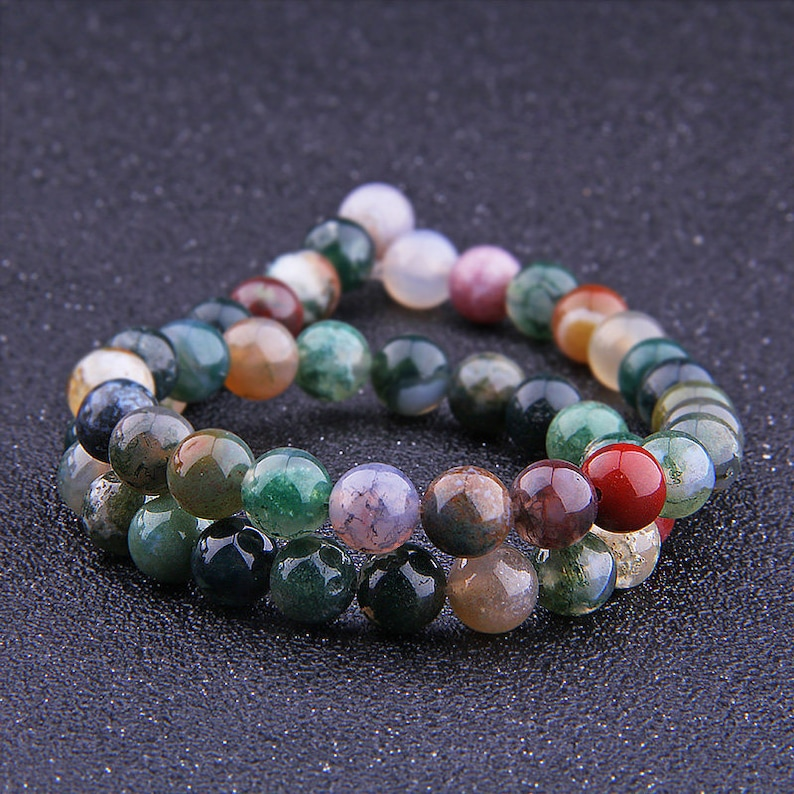 95-100pcs//strand 4mm Natural Indian Agate Beads Round Gemstone Loose Beads for Jewelry Making
