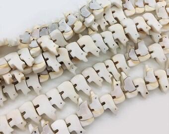 7x15mm Bear Shell Beads ,Sea Shell Beads , Animal Shell Beads , DIY Flat shell,Jewelry Shell , Cute Shell Beads  20 PCS Strand