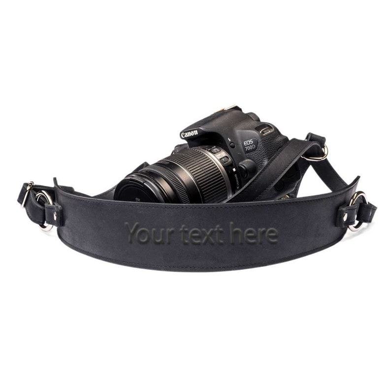 Leather Camera Strap Personalized Camera Strap Black Camera Strap