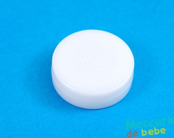 Sound effects for baby toys: rattle - white - 33 mm diameter