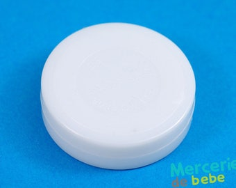 Sound effects for baby toys: rattle - white - diameter 45 mm