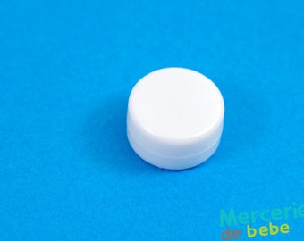 Sound effects for baby toys: rattle - white - diameter 22 mm
