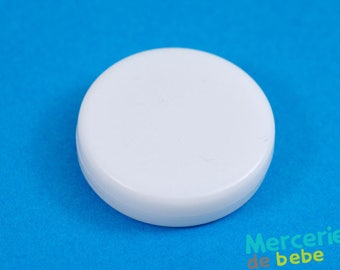 Sound effects for toy Baby Rattle white - 40mm diameter