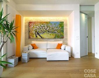 Spring / Acrylic art / Original paint / Modern  /47 X 24 inch /  ( 120 x 60 cm ) by Noldin