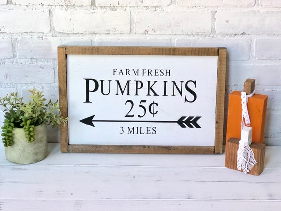 Farm Fresh Pumpkins Wood Sign / Fall Decor / Home Decor / Wood   Etsy