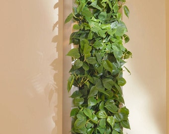 Stainless steel indoor / outdoor living wall 14'' x 58'' (vertical planter) for tropical plants/herbs