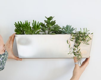 Stainless steel 18 x 6 planter