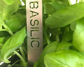 FRENCH Stanless steel herbs tags