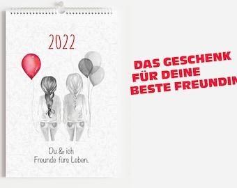 Kalender 2022 - Beste Freundin - 12 Monatsblätter + Deckblatt