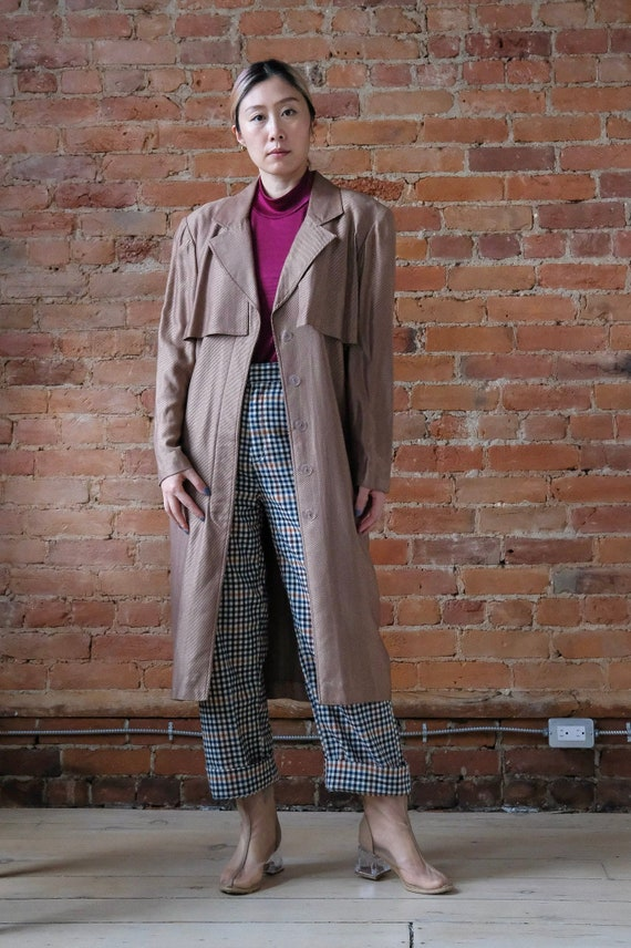 Vintage 1990s Caramel Trench Duster