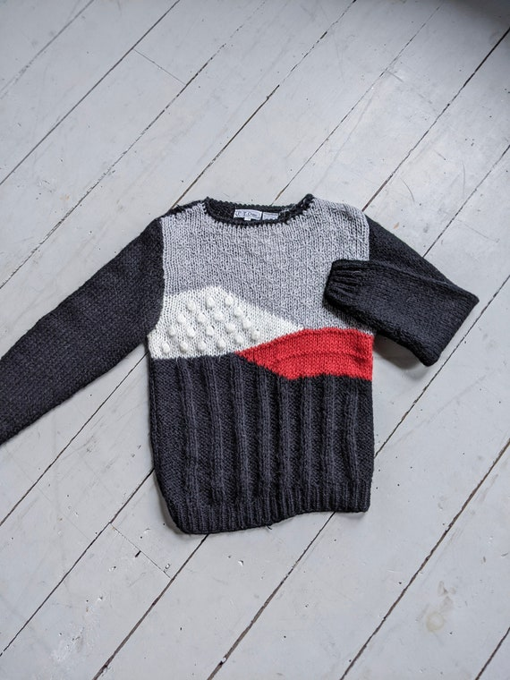 Vintage 1980s abstract knit sweater