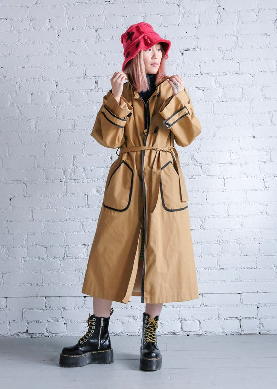 Vintage Trench coat with black piping