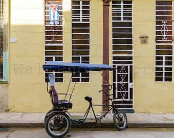 Tricycle Pictures, 3 Wheel Trike, Tricycle Art, Cuba Travel Photography, Bike Photography, Bicycle Wall Art, Havana Cuba Wall Art, Poster