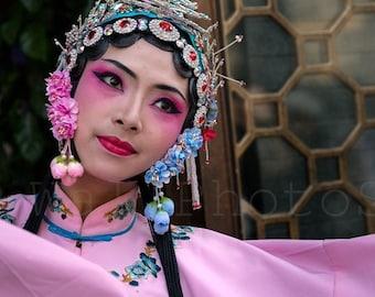 China Photography, Chinese Opera, Colorful Opera Makeup, Chinese Wall Art, China Print Art, Fine Art Photography, Sichuan Opera, Singer