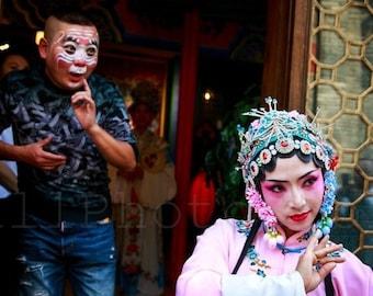 Scene from Chinese Opera, Sichuan Opera, Chinese Wall Art, China Photography, China Print Art, Fine Art Photography, Singer, Poster