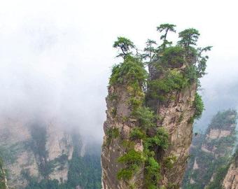 China Photography, Zhangjiajie National Park, China, Mountain Photography, Landscape Photography, Nature Photography, Vertical Wall Art