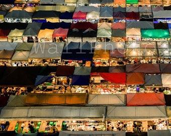 Thailand Wall Art, Bangkok Photography, Colorful Markets, Thai Photos, Thailand Photography, Bangkok Poster, Multicolored Wall Art Prints