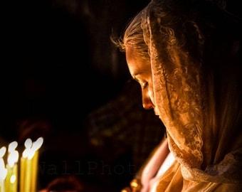 Israel Photography, Praying Woman, Jerusalem, Christian, Religious, Fine Art Photography Print, Woman Photography, Vertical Wall Art Print