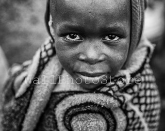 Lesotho Photography, Basotho Herd Boy, African Black and White Photography, African Fine Art Vertical Wall Art Print, African Boy, Poster