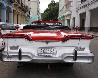 Cuban Car Photography, Vintage Car in Cuba, Car Poster, Cuba Photography, Classic American Car, Old Car Print, Car Wall Art, Gift for Men