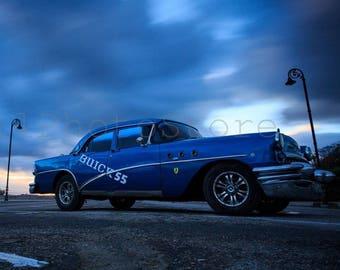 Cuba Photography, Vintage Buick Photo, Old Car Posters, Car Photography, Car Wall Art, Cuban Art, Cuban Car, Havana Art, Old Classic Car