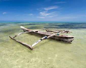 Zanzibar Dhow Wooden Fisher Boat, Tanzania, Travel Photography, Ocean, Fishing Boat, Fine Art Photography, Dhow Wall Art, Dhow Pictures