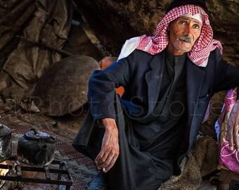 Jordan Photography, Bedouin from Little Petra, Jordan Photos, Travel Photos, People Photography, Fine Art Photography Print, Jordan Wall Art