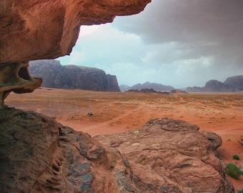 Jordan Photography, Before Sandstorm, Mountain Landscape Photography, Middle East Wall Art, Fine Art Photography, Jordan Print Photography