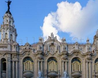 Gran Teatro de La Habana, Cuba Photography, Old Havana Architecture Photography, Fine Art Photography Print, Cuba Print Art, Cuban Wall Art