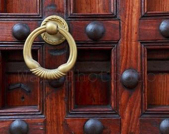 Zanzibar Door Photography, Door Knocker Photography Print, Carved Wooden Door, Fine Art Photography Print, Door Wall Art Print, Door Poster