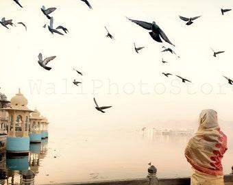 India Photography, Morning in Udaipur, Sunrise India Photoshoot, Indian Wall Art, India Fine Art Print, India Poster, Holy Lake, Poster