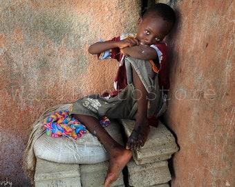 Senegalese Boy, African Boy, Senegal Photography, Africa Photography, Travel Photography, Fine Art Photography Print, African Wall Art Decor