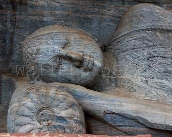 Buddha Photography, Hand Carved Buddha Statue, Sri Lanka, Polonnaruwa, Ceilon Art, Wood Carved Buddha Wall Art Print, Travel Photography