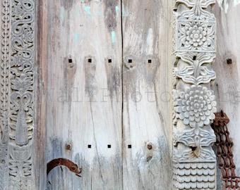 Zanzibar Door Photography, Old Wooden Carved Door, Door Lock, Door-Bolt Photography, Tanzania, Door Fine Art Photography, Door Art Print