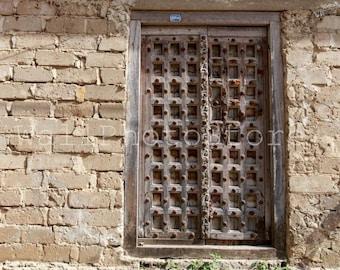 Zanzibar Door, Vintage Wooden Carved Door, Door Photography, Door Print, Architecture Photography, Fine Art Photography, Zanzibar Print Art