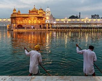 India Photography, Sikh Wall Art, Holly Lake, Golden Temple, Amritsar, Sikhism, Sikh Print Art, Travel Photography, India Print Art, Gold