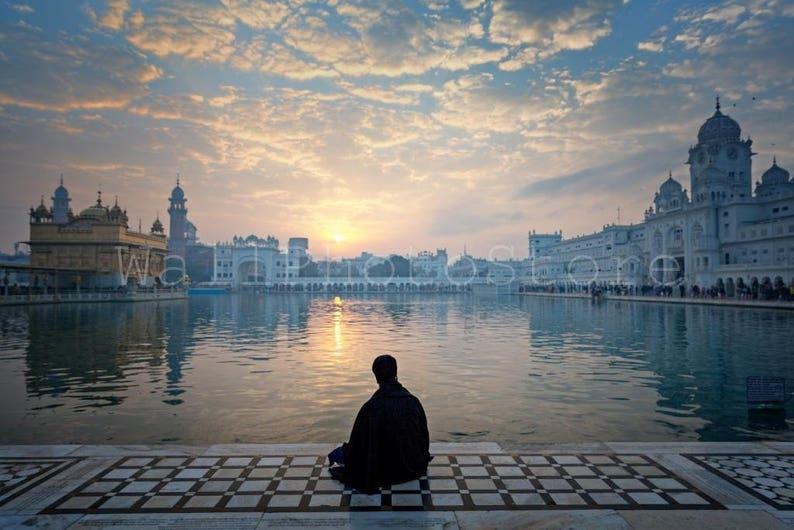 India Photography Sikh Warrior Meditating Golden Temple image 0