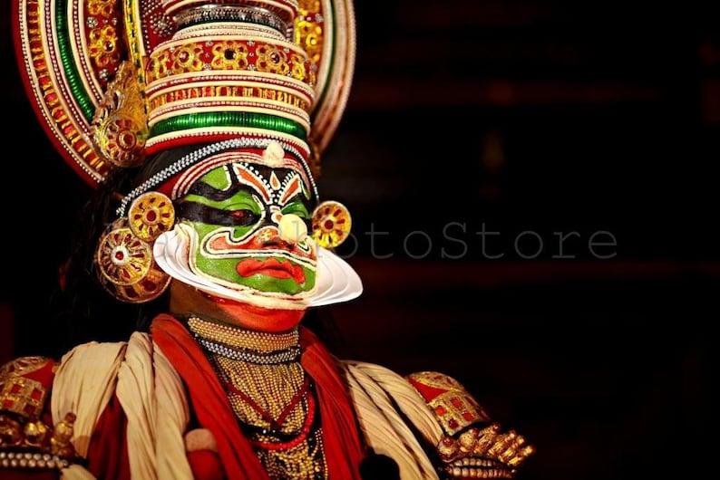 Kathakali Dancer Portrait, Kathakali Print Art, Kathakali Wall Art, India  Photography, Kathakali Face Painting, India Print Art, Camouflage