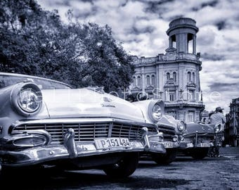 Black and White Cuba Photography, Old Cuban Car in Havana, Cuban Art, Car Photography, Cuba Wall Art, Cuba Print Art, Fine Art Print,  Decor