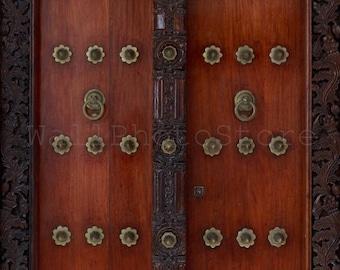 Zanzibar Door Photography, Door Knocker Photography, Door Knocker Print, Wood Door Print, Tanzania. Fine Art Photography, Wall Art Print Art