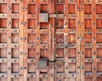 Zanzibar Door Photography, Door Wall Art Print, Old brown wooden carved Door, Zanzibar Print, Architecture Photography, Fine Art Photography