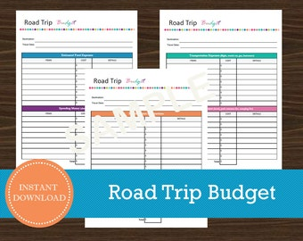 multi city road trip planner travel planner travel etsy