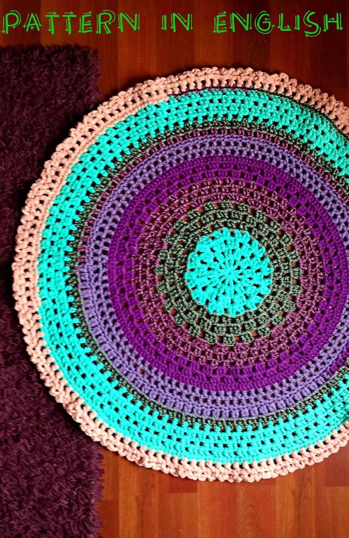 Schema Uncinetto Tappeto Mandala Tondo In Fettuccia E Cordino Etsy