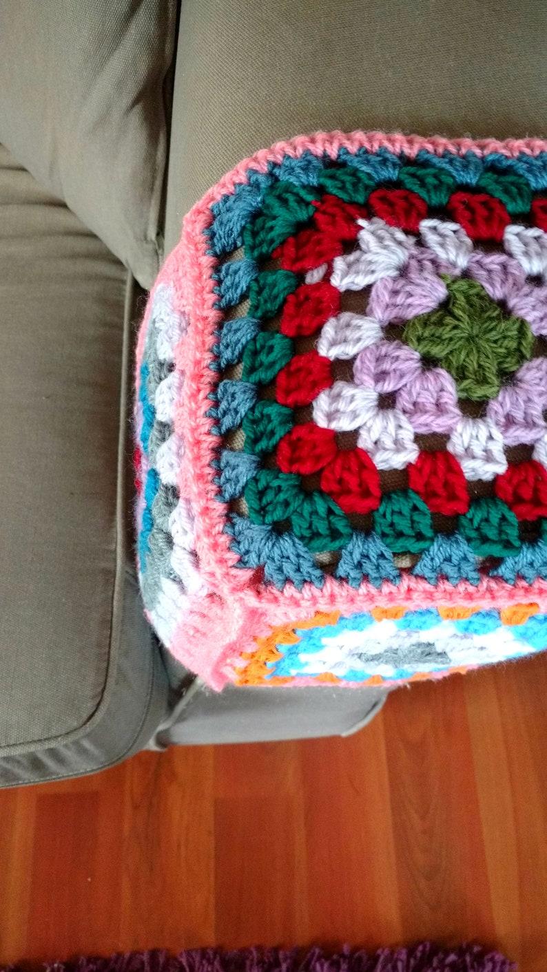9c8be118c24 Armrest Cover Crochet. Granny Square Design. Custom Dimensions