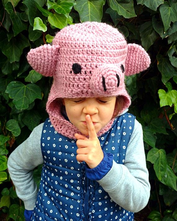 Benutzerdefinierte Häkeln Schwein Balaclava Kinder Lustige Etsy