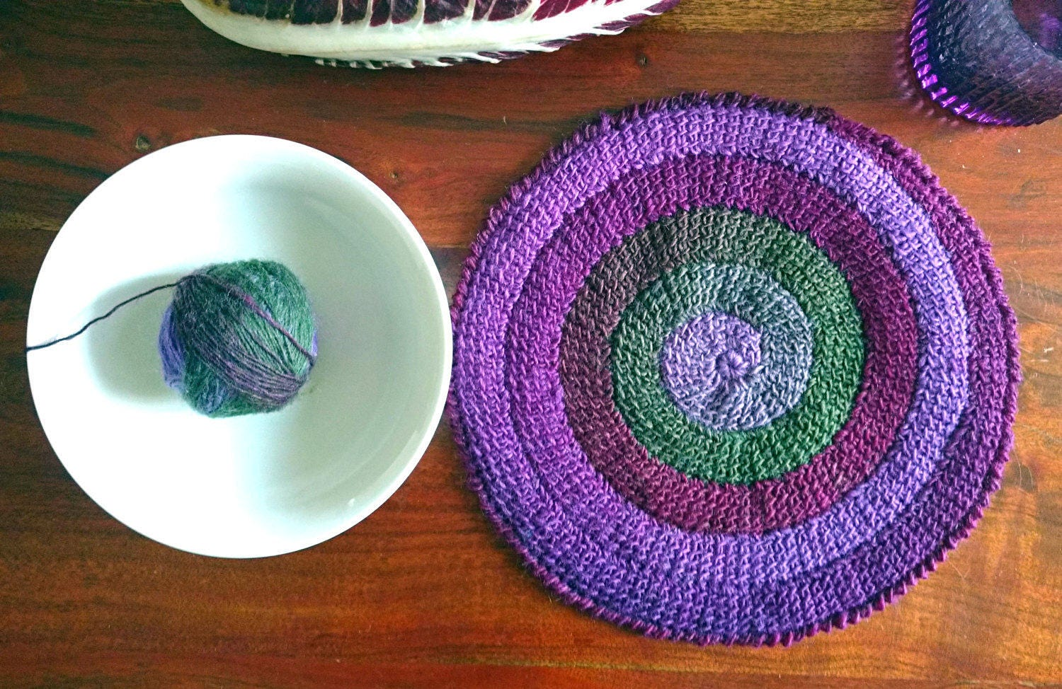 Tunisian Crochet Spiral Round Centerpiece Table Settings Etsy